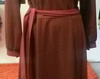 Brown Vintage Cotton Dress by BUTTE