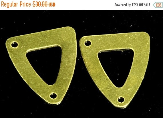 250 pcs 13.5x15.5 mm raw brass triangle tag 2 hole raw brass connector charms ,raw brass findings 1331RY2
