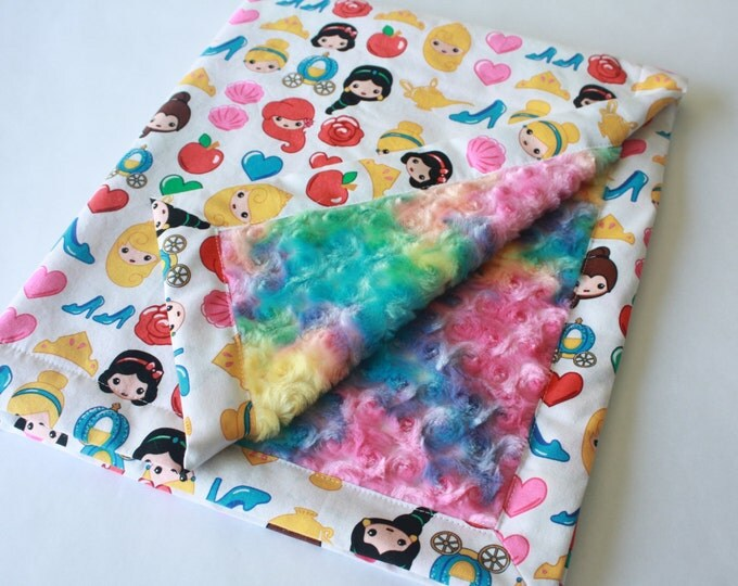 Princess Baby Blanket-Rainbow Emojis
