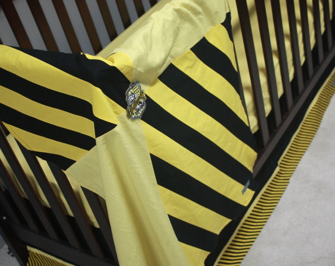 Wizard baby bedding--Black and Yellow--Banner Series-MTO