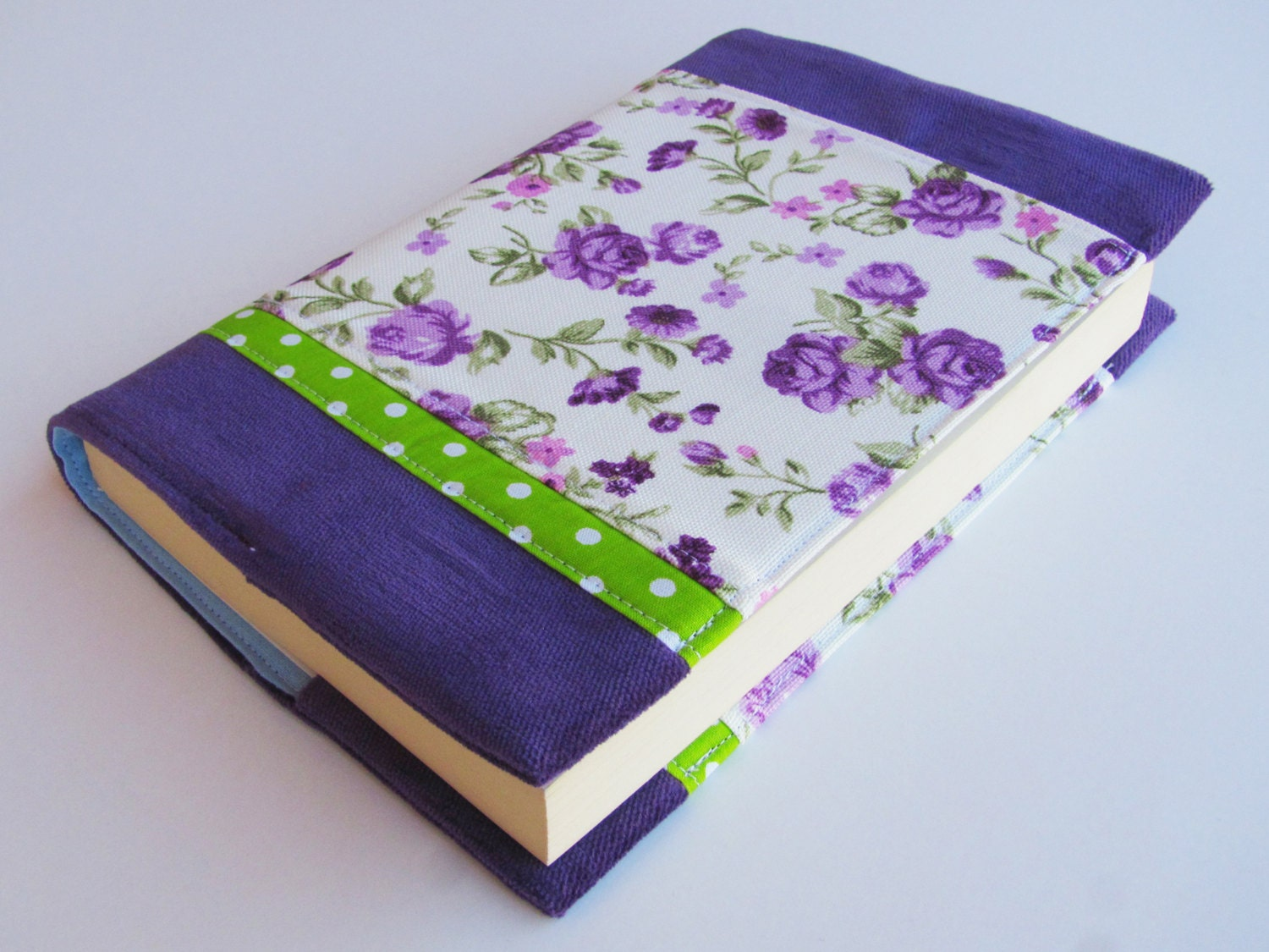 Cloth Book Covers For Textbooks ~ Floral fabric book cover paperback for mass market