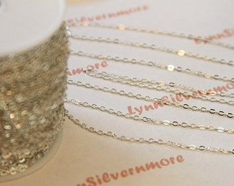 3 ft. 3x2 mm Silver -plated Oval Link Chain.