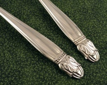 2 Serving Spoons DANISH PRINCESS Holmes & Edwards Vintage 1938 Silver Plate Silverplate Flatware Silverware Set of 2 Tablespoons