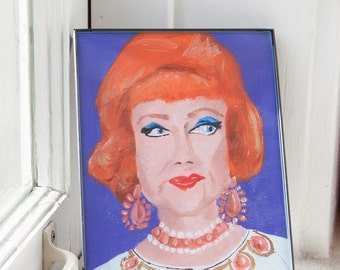 Agnes Moorehead as Endora from Bewitched Framed 5x7 Print