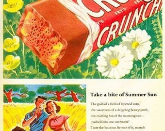 Vintage Crunchie Bar Advertising Poster A3/A2/A1 Print
