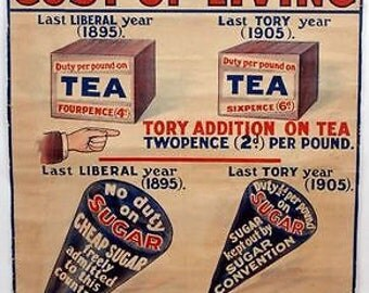 Early 20th Century liberal party Election Poster A3 Print