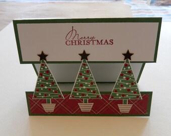 3 Tree Split Christmas Card