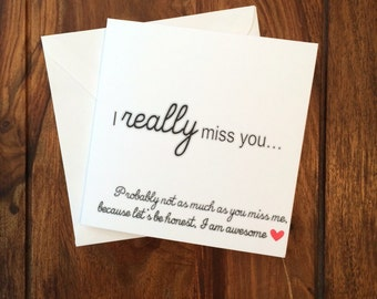 Miss You Card, I Miss You Card, Funny Card