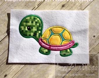 Turtle Applique Embroidery Design - turtle applique design