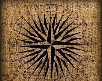 25% OFF Compass Rose Graphic Digital Download