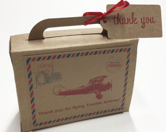 Precious Cargo Suitcase Favor Box Baby Shower Favors Suitcase Favors Kraft Coloured Large Size 25 Included