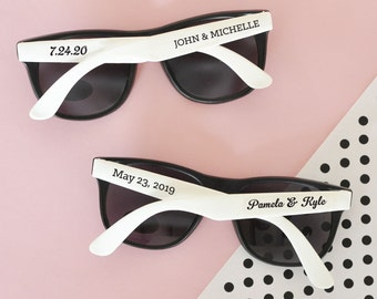 Wedding Sunglasses 24 Personalized Sunglasses Custom Sunglasses Sunglass Beach Destination Wedding Favor Wedding Favors - Set of 24 Printed