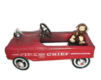 AMF Fire Chief Pedal Car Vintage Fire Fighter Decor