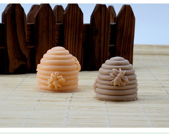 3D Screw Cylinder Bee Hive Candle Mold Soap Mold Mould Silicone Mold DIY Handmade R1835