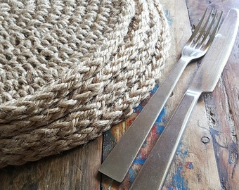 Jute placemats Set of 4