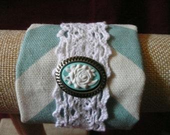 vintage cuff fabric cuff bracelet