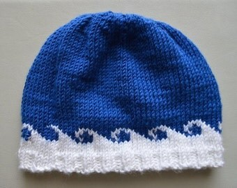 Knit wave hat