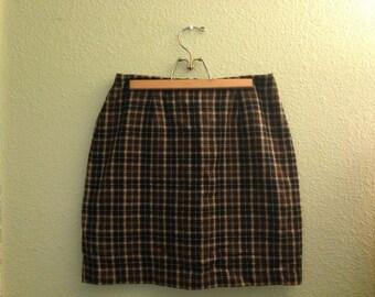 Clueless Plaid Wool Mini Skirt