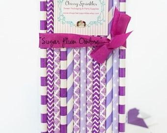 Plum Ombre -Purple, Purple Straws *Purple Party *Princess party  *Purple straws - Paper Straws *Purple Wedding Decorations *Purple Bridal