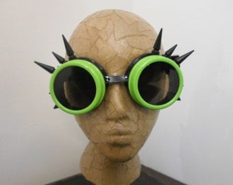 Spiked Goggles - Welding Goggles, Cosplay Goggles, Costume Goggles, Mad Max Goggles