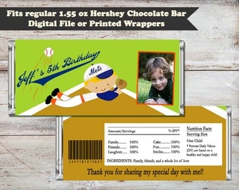Baseball Candy Bar Wrappers, Sports Party Favors, Baseball Candy Wrapper, Sports Candy Wrapper, Baseball Party Favor, Digital or Printed