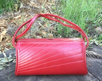 1950's Red Handbag by Maben Bags