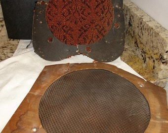 Vintage Radio Grille Cloths, Radio Grill Cloths, Vintage Speaker Textile, Audio Gear, Vintage 1940s, Set/2