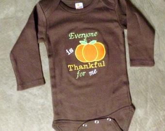 Brown Pumpkin Onesie