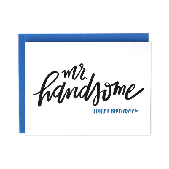 Happy Birthday Handsome Husband Birthday Card Boyfriend