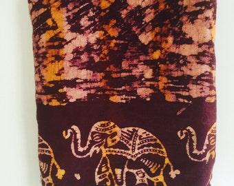 Vintage Indian Block Print Twin Bedspread