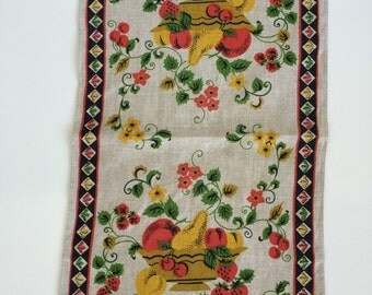 Vintage Linen Tea Towel Dishtowel