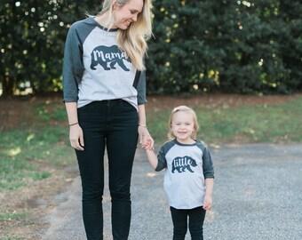 Mama/Papa Bear Baseball tee