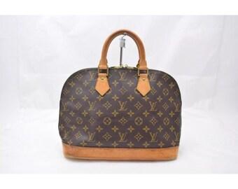 Vintage LOUIS VUITTON authentic ALMA monogrammed handbag purse