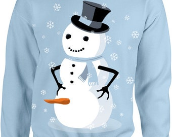Dirty Snowman Ugly Christmas Sweater