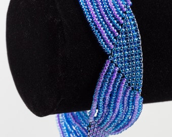 Purple and Blue Wavy Bracelet