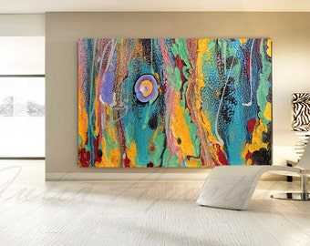 Abstract Turquoise Print Art, Contemporary Abstract painting, Large Print, Colorful print, Turquoise Home Decor, Water, Huge Modern Wall Art