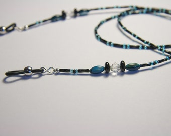 Eyeglass Chain - Blue and black