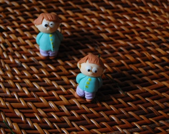 "Little twins Brooches"" 小酷哥胸针"" set of 2 brooches"
