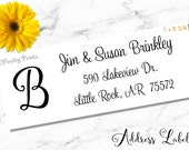Initial Address Labels, Address Labels, Personalized Stickers, Personalized Labels