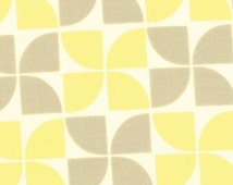 Half Yard - FLANNEL - Marmalade by Bonnie and Camille for Moda - 55053-15F -  Grey Lemon Pinwheels
