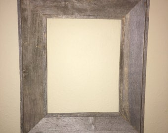 Reclaimed Wood Frame 11 x 14 For Picture Or Mirror, Grey Tone, Barnwood # 3