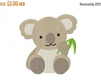 40% OFF - 4X4 Baby Koala Machine Embroidery Design Multiple Formats Available - Instant Download