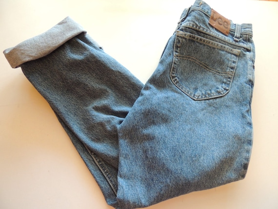 """Lee """"Mom"""" Jeans High Waisted Size 31 x 30 - Pepper Stone Vintage Looking Regular FIt"""