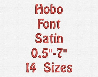 Hobo Font 14 Sizes Embroidery Design