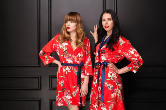 Floral Red Robes