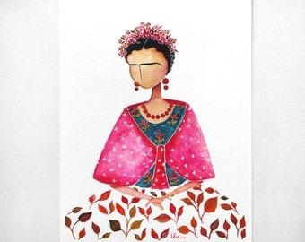 Frida Kahlo illustration - Giclee Art Print