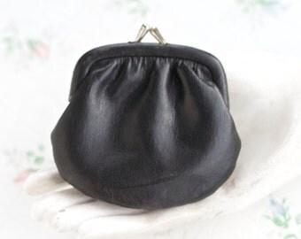 Coin Purse - Black Twist Clasp Wallet