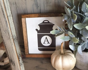 Creamery Can Mini Farmhouse Sign