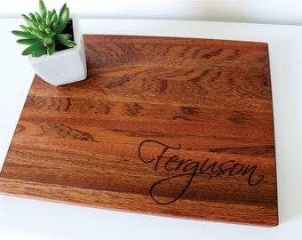 Personalized Cutting Board, Wedding Gift, Custom Name, Mens Gift, Anniversary Gift, Husband Gift, Groomsmen, Housewarming, Bridal Shower