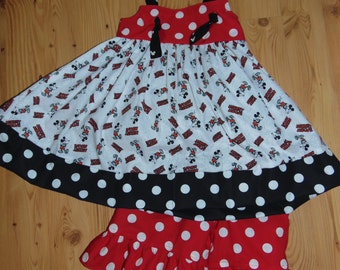 OOAK Ready to Ship Disney Mickey Mouse Boutique Outfit Custom Size 4